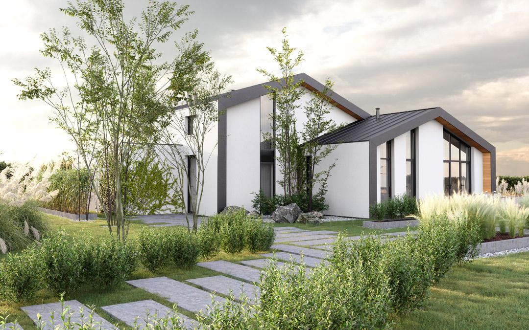 nieuwbouw architect Den Haag villa 3d beeld tuin